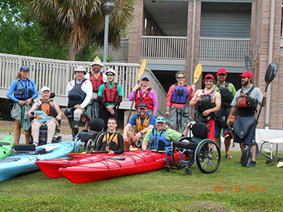 Adaptive kayaking group photo
