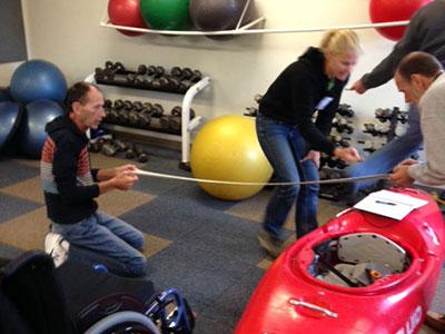 Adaptive paddling workshop
