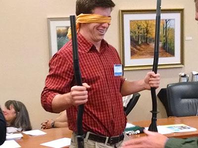 Classroom training on blind communications