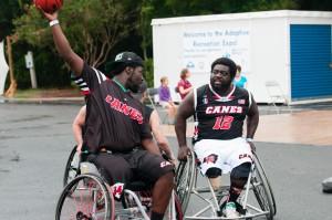 Wheelchair Basketball Action